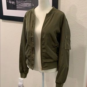 Love Tree khaki light weight bomber jacket